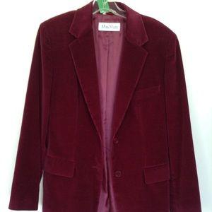 Whine color blazer